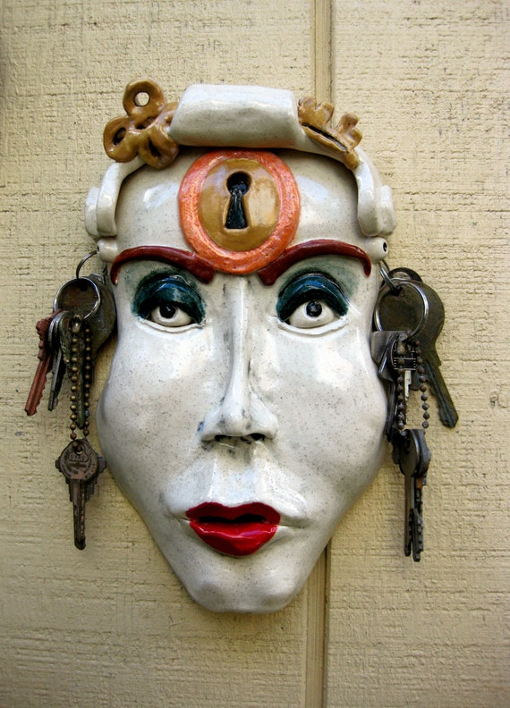 Femme Fatale Under Lock & Key Ceramic Mask