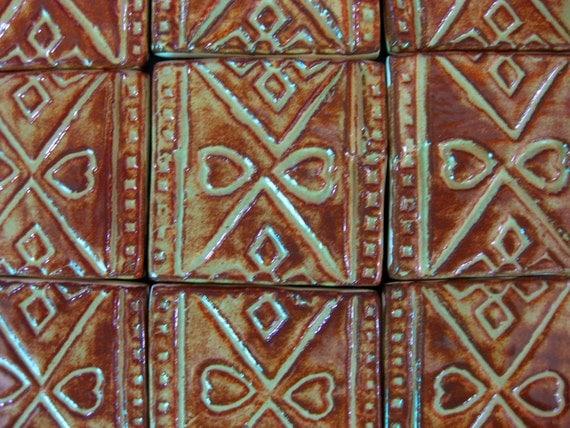 9 Pennsylvania Dutch Mosaic Tiles