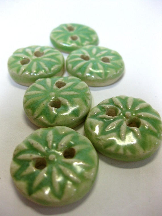 Key Lime Ceramic Buttons by Uturn on Etsy