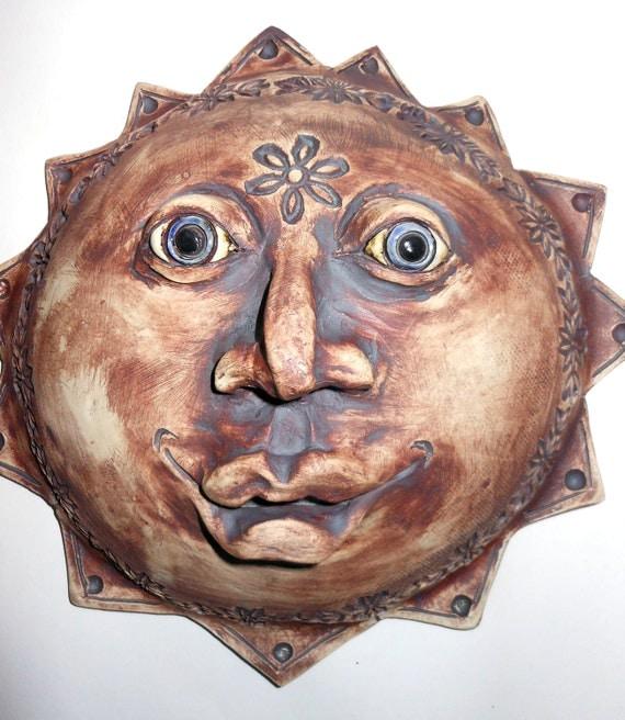 Sun Goddess Ceramic Mask
