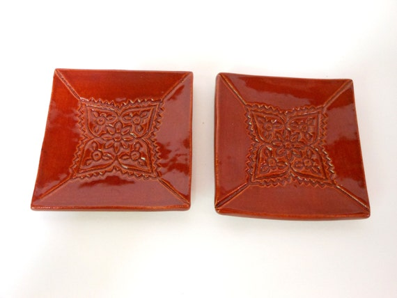 Red Cinnamon Spoon Rests/trinket dish/soap dish