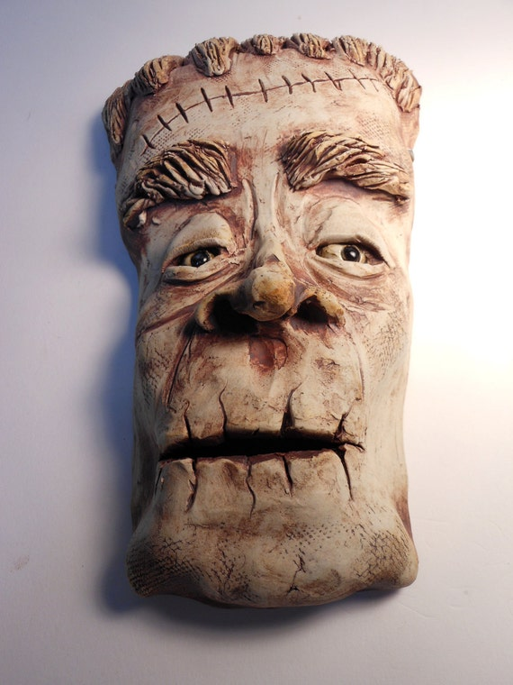 Frankenstein Ceramic Wall Mask