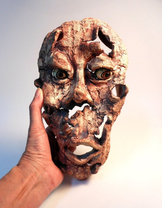 Blown Away Ceramic Wall Mask