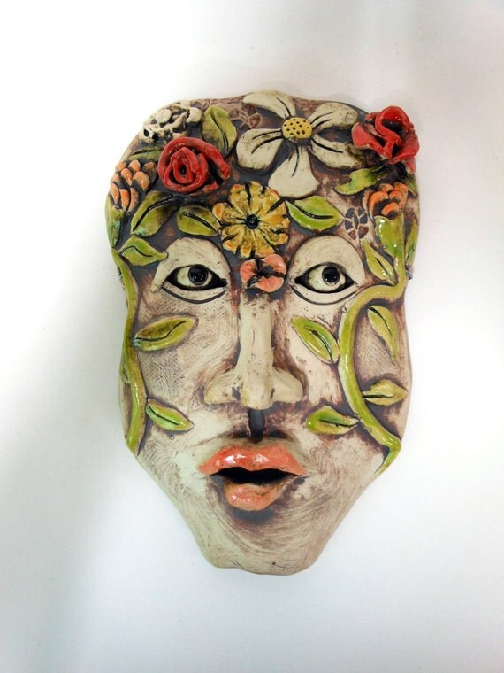In the Garden of My Mind Ceramic Mask