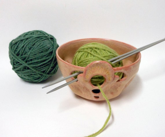 Sale-Dusty Rose Yarn Bowl