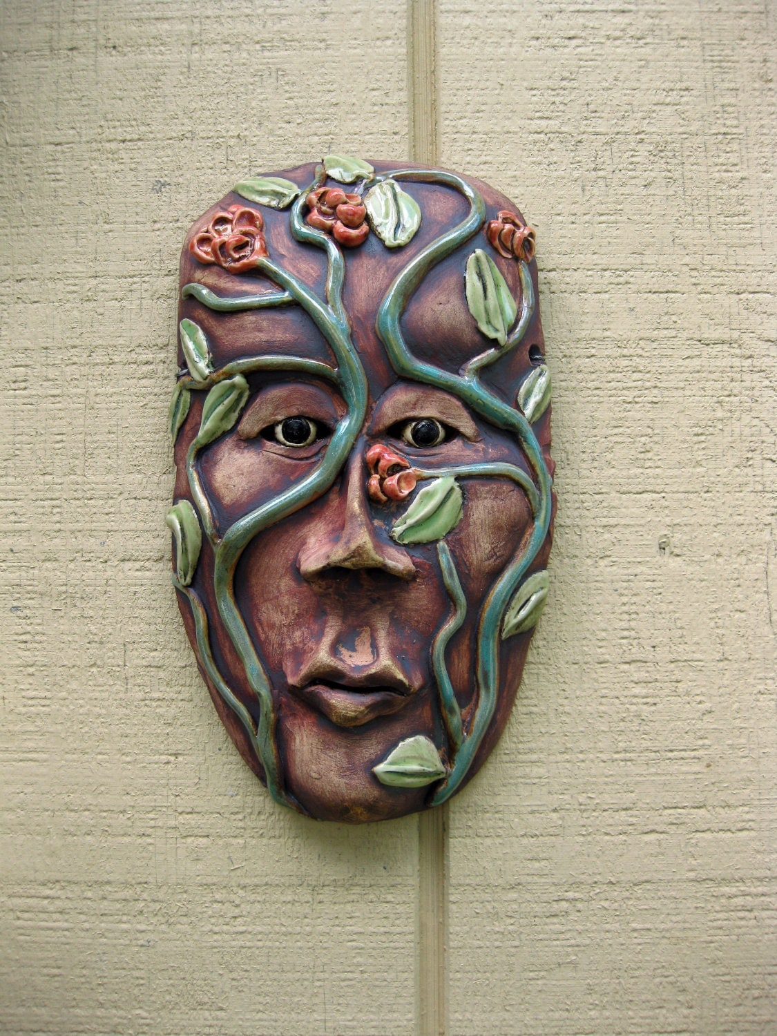Mother Natures Sister Ceramic Mask