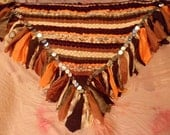 Sandy Beach woven hip scarf, belly dancing, faerie cosplay (size large)