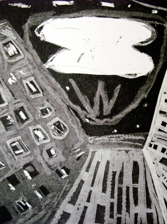 Printmaking New York City Abstract Etching