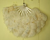 1920s Flapper Feather Fan /  Great Gatsby accessory  /  20s flapper era fan