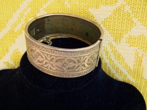 Vintage Copper Bracelet/ 1950s jewelry/ Deco bracelet