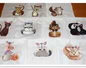 Purrables Machine Embroidered Quilt Blocks Set