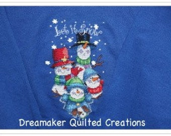 Let It Snow Counted Cross-stitch Holiday Sweatshirt