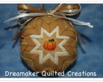 Handmade Fall Pumpkins Quilted Ornament