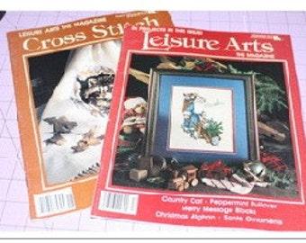 Leisure Arts Oct 91 and Dec 91