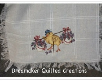 My Little Chickadee Counted Cross Stitch Baby Blanket