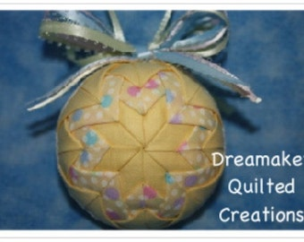 Handmade Easter Quilted Ornament