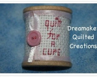 Spool Its Quilt for a Cure Pin Brooch