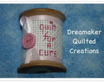 Spool Its Quilt for a Cure Ice Box Magnet