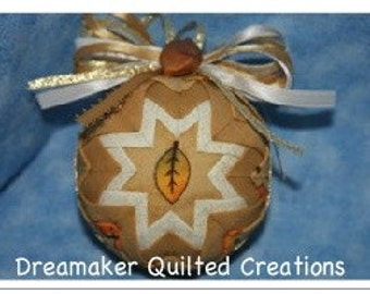 Handmade Fall Leaves Quilted Ornament