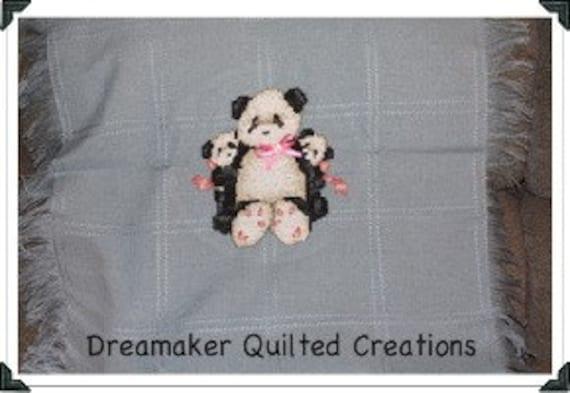 Counted Cross Stitch Panda Baby Blanket