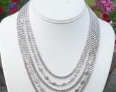 Lovely Vintage Monet 5 strand necklace