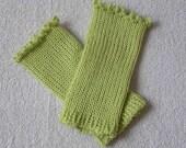 Fingerless Gloves from Soft Alpaca Yarn
