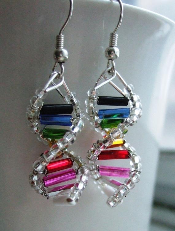Rainbow Genes - DNA Earrings