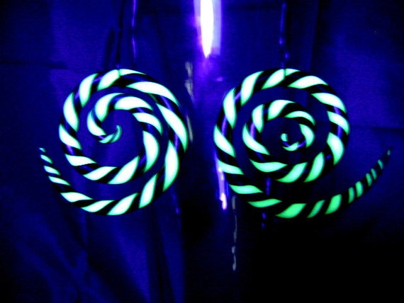 8g, 6g, 4g, 2g, 0g, 00g Spiral Earrings For Stretched Ears (You Choose The Colors)