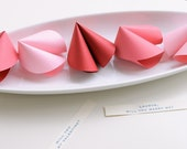 Reserved listing for amira19 Paper Fortune Cookies (1 cookie)