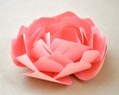 Reserved listing - The Amelia Series - paper peony place setting, gift topper, wedding favor, shower favor.  Pink and Yellow.