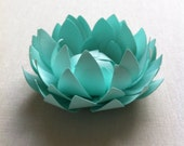 Mint/ paper lotus.  Home decor, office decor, party decor.  Place settings, name cards,