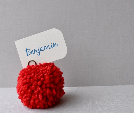 Reserved listing for bailykauk - Red yarn pom pom place holders