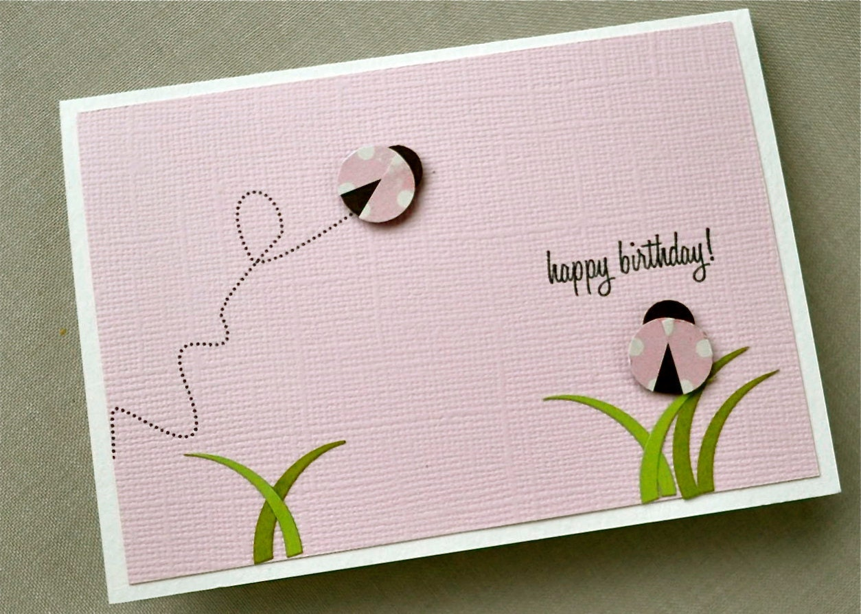 Blank Birthday Cards gangcraftnet – Ladybug Birthday Cards