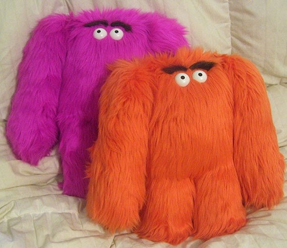 Plush Grumbelly Monster , Large 14-16 inch size , Choice of 2 colors