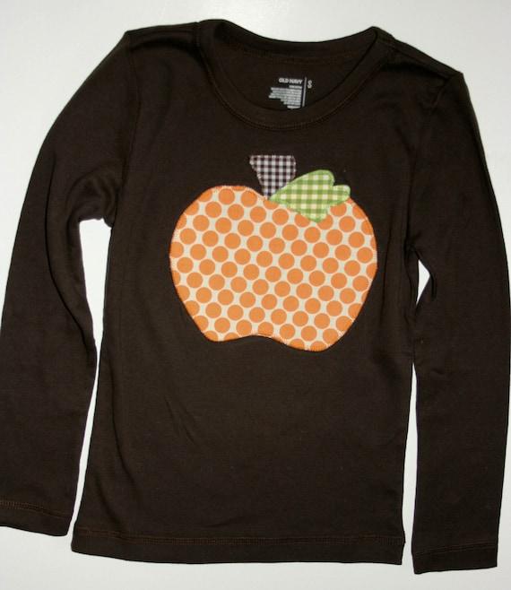 Items similar to sale halloween applique pumpkin shirt for Applique shirts for sale
