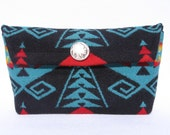 Pendleton Wool cosmetic bag/ small pouch