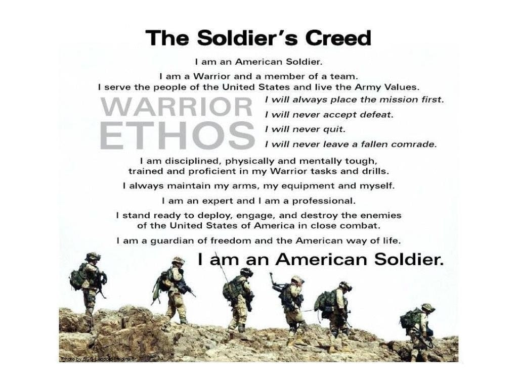 what is without a doubt all the troops creed