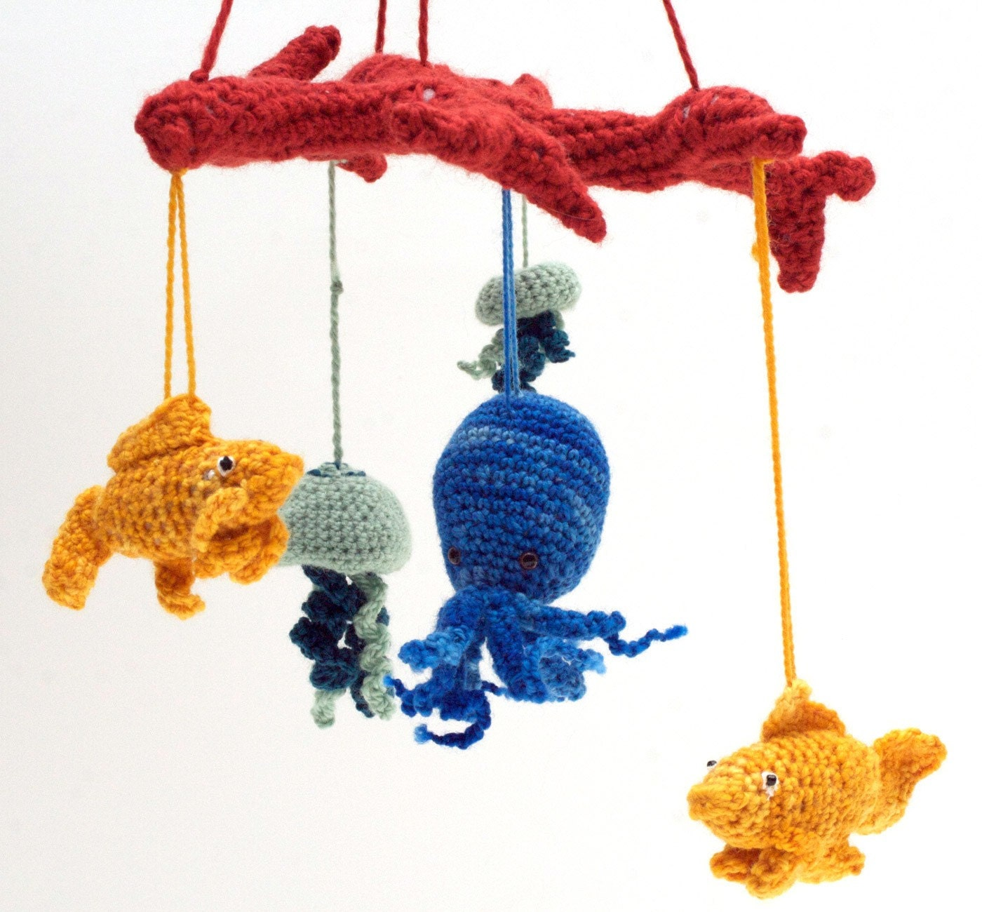 Sea creature baby mobile crochet pattern for Sea animal baby mobile