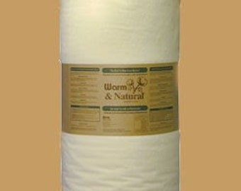 """36"""" x 90"""" Warm & and Natural Cotton Quilt Batting with Instructions - Free US Shipping"""