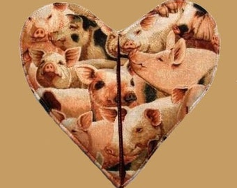 Pigs Heart Shaped Pot Holder