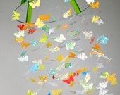 Citrus Green Butterfly Mobile- Great for kids, baby shower gifts, baby rooms, photographer propscitrus
