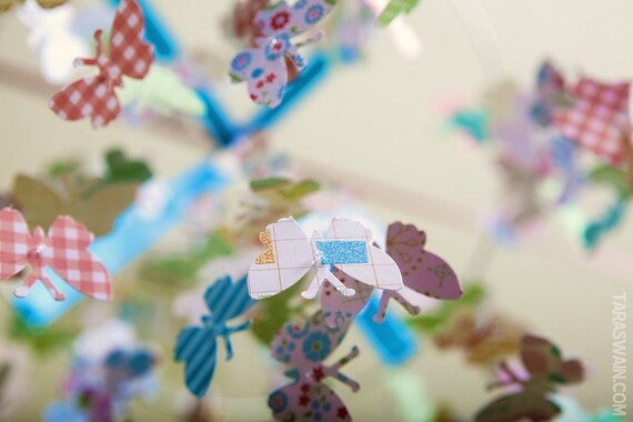 SALE SALE SALE - Turquoise Love Butterfly Mobile-Great for Baby Shower Gifts, Nurseries, Bedrooms, Photographer Prop