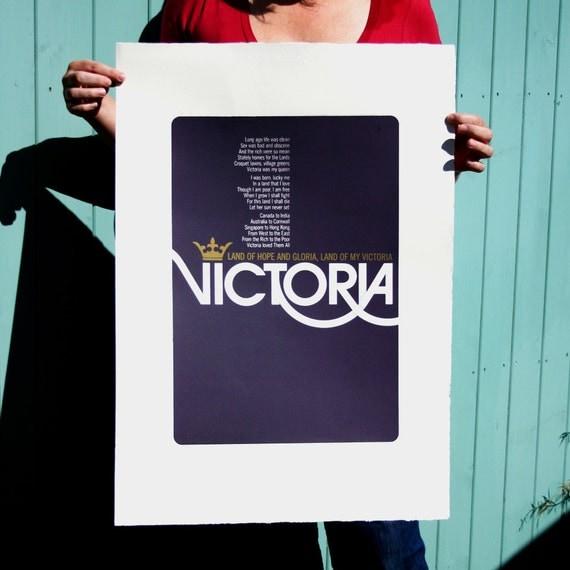 Victoria Large Screenprint