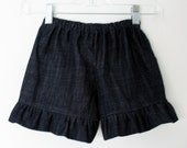 Three PAIRS Denim Ruffle Shorts - Sizes 12mo to 4T Ellie Style