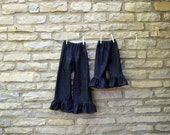 2 PAIRs Big Sis Little Sis Sizes Ruffle Pants in Denim or Corduroy