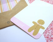 4 Gingerbread Man Note Cards
