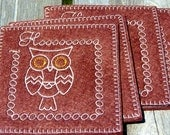 Wool Felt Coaster Hoot