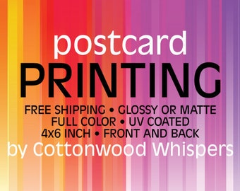 Custom 4x6 Postcard Printing - FREE SHIPPING