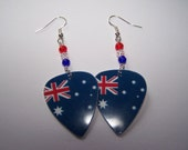 Australia 2012 Olympic Games - Support Your Country Guitar Pick Earrings