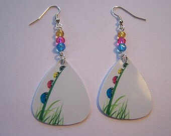 Climbing Ladybirds - Guitar Pick Earrings